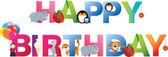 Happy birthday young child style — Stock Vector