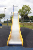 Saturated shot of a yellow slide — Stockfoto