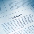 Contract paperwork — Stock Photo