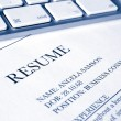 Resume or cv job application - Stock Photo