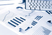 Financial performance graphs — Stock Photo