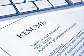 Resume or cv job application — Stock Photo