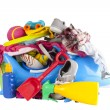 Pile of holiday or vacation summer things — Stock Photo