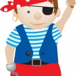 Pirate cartoon - Stock Vector