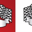Motor racing checkered, chequered flag background — Stock Vector