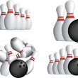 TEN PIN BOWLING PINS — Stock Vector #6000580