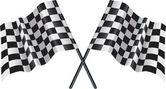 Automobilismo bandeira quadriculada, xadrez — Vetorial Stock