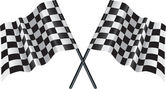 Motor racing checkered, chequered flag — Vetorial Stock