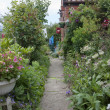 Garden path to a country cottage garden — Foto de stock #6046751