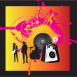 Music band rock background — Stock Vector