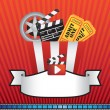 MOVIE AND CINEMA BACKGROUND ELEMENT - Stock Vector