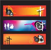 Música cristiana moderna — Vector de stock