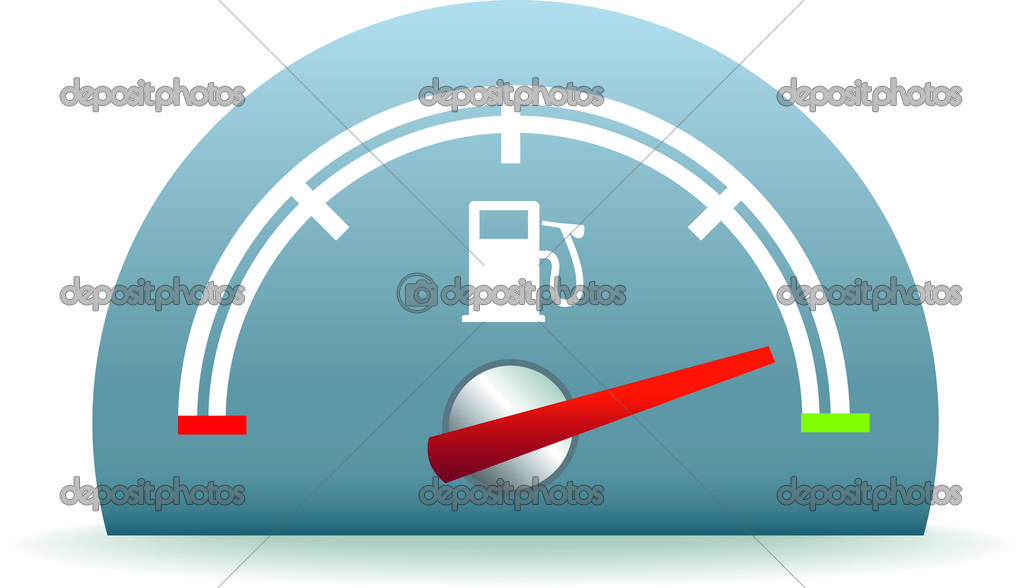 Fuel usage dial representing a full tank of petrol or diesel  Stock Vector #6178609