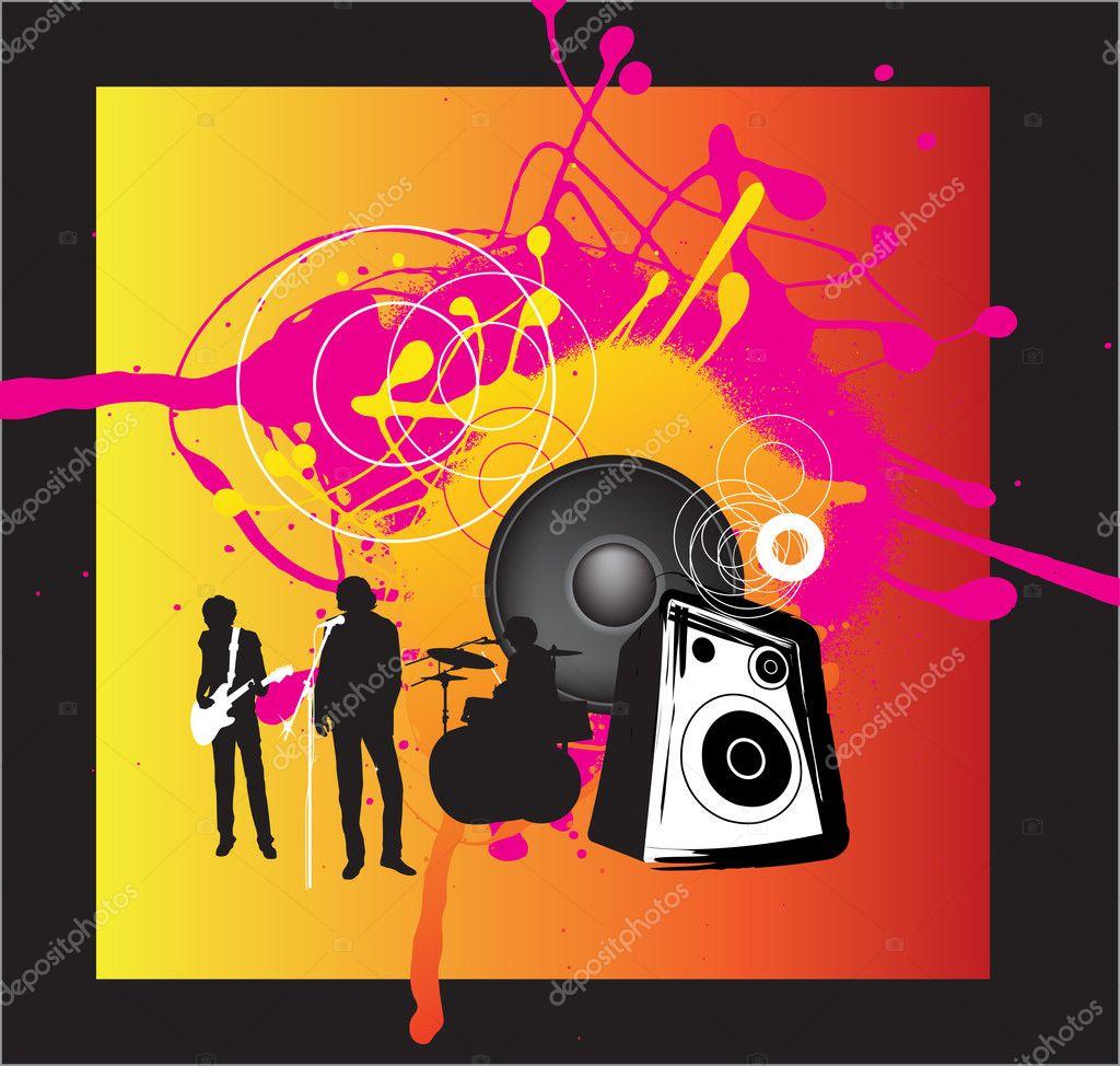 Music band rock background stock illustration