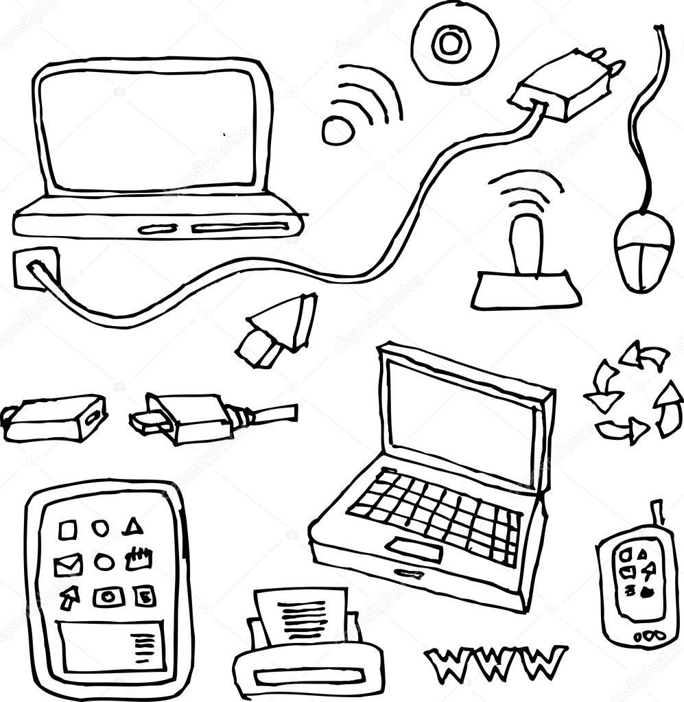 technology coloring pages - photo#47
