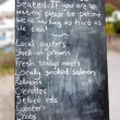 Restaurant or cafe or shop noticeboard blackboard sign — Photo