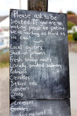 Restaurant or cafe or shop noticeboard blackboard sign — Stock fotografie