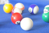 Set of pool balls — Stock Photo