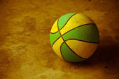 Basketball on cement floor — Foto de Stock