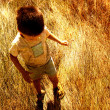 Stock Photo: Child in savanna