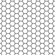 Honeycomb grid — 图库照片