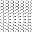Honeycomb grid — Stockfoto