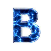 Electric 3d letter on white background - b — Foto Stock