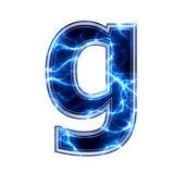 электрические 3d письмо - g — Стоковое фото