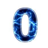 Elektrische 3d-digit - 0 — Stok fotoğraf