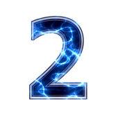 Electric 3d digit - 2 — Stock Photo