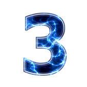 Dígito 3d eléctrico - 3 — Foto de Stock