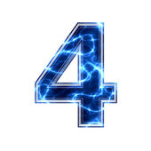 Elektrická 3d číslice — Stock fotografie