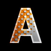 Halftone 3d letter - A — Stock Photo