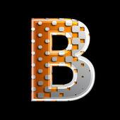 Halbton 3d buchstaben - b — Stockfoto