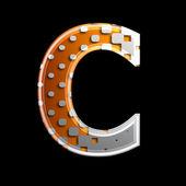 Halftone 3d letter - C — Stock Photo