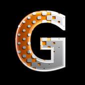 Polotónování 3d dopis - g — Stock fotografie