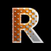 Halftone 3d letter - R — Stock Photo