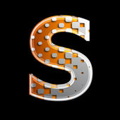 Halftone 3d letter - S — Stock Photo