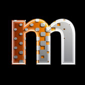 Halftone 3d letter - M — Stock Photo