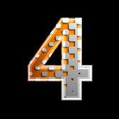 Halftone 3d-digit - 4 — Stockfoto