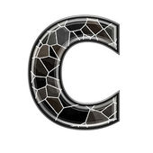 Abstract 3d letter with stone wall texture - C — Stock Photo