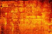 Hořící zeď — Stock fotografie