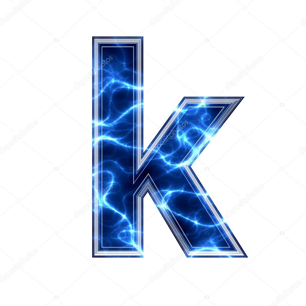 Electric 3d lett...K Letter Wallpapers 3d