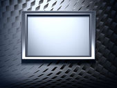 Blank metal frame on abstract background — Stock Photo
