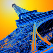 Pop art eiffel tower — Foto de Stock