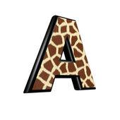 3d brev med giraff päls struktur - en — Stockfoto