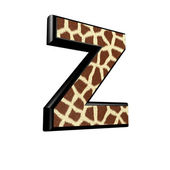 Litery 3d z żyrafa futrami tekstury - z — Zdjęcie stockowe