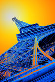 Pop art eiffel tower — Stock Photo