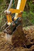 Bulldozer detail — Stock Photo