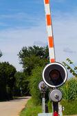 Level crossing gate — Stock Photo